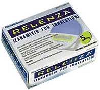Упаковка противовирусного препарата Реленца (Занамивир, Zanamivir)